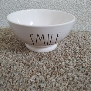 Rae Dunn Smile cereal ice cream  bowl